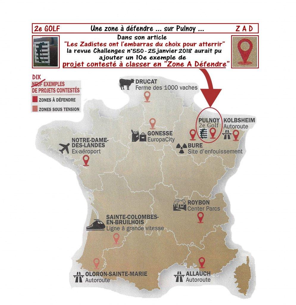 Zones ZAD en France_carte Challenge_Ajout Pulnoy 2eGolf_fev2018_v5