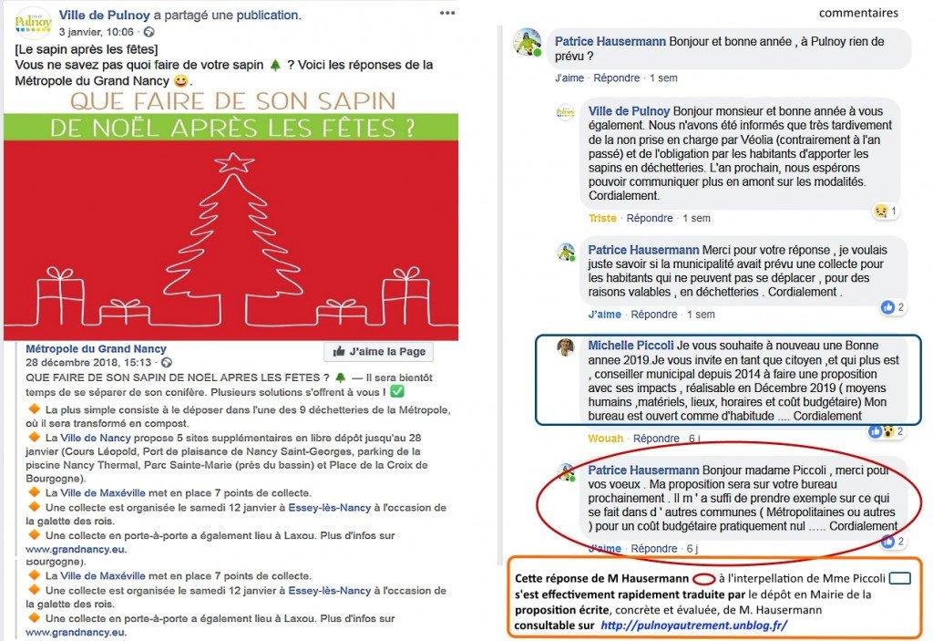Copie Message FB Ville de P_ramassage sapins + commentaires_PH_MP_janv2008
