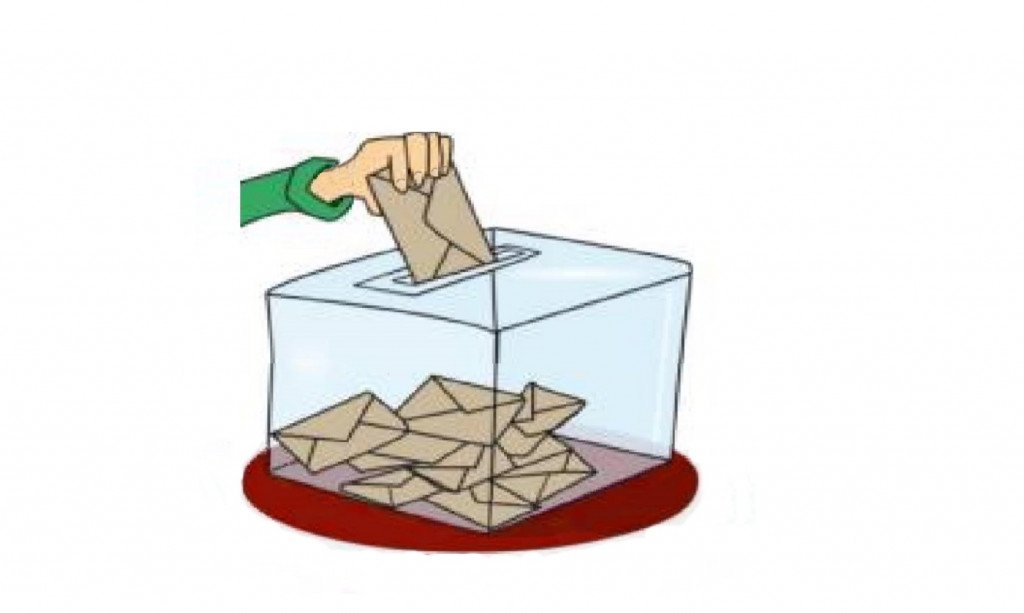 Urne avec enveloppes + main votant_36x22_gde marge