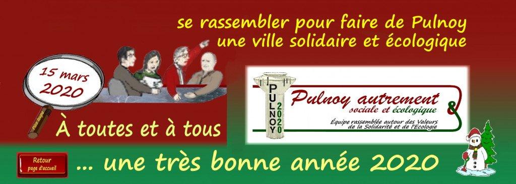 Bandeau_FB_Pulnoy-autrement_caricature loupeCM+4CM opp+Logo PA 2020 _slogan  solidaire ecologique dec2019_v Bonne Annee-v2