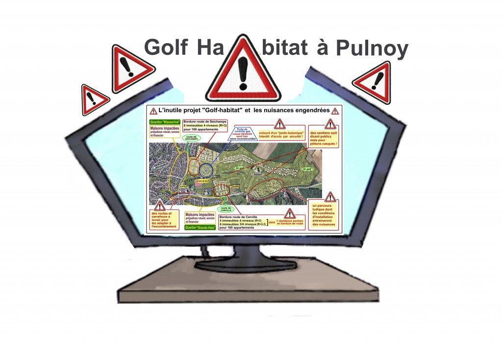 Dessin humor_5e episode_Golf habitat_Ecran_nuisances projet