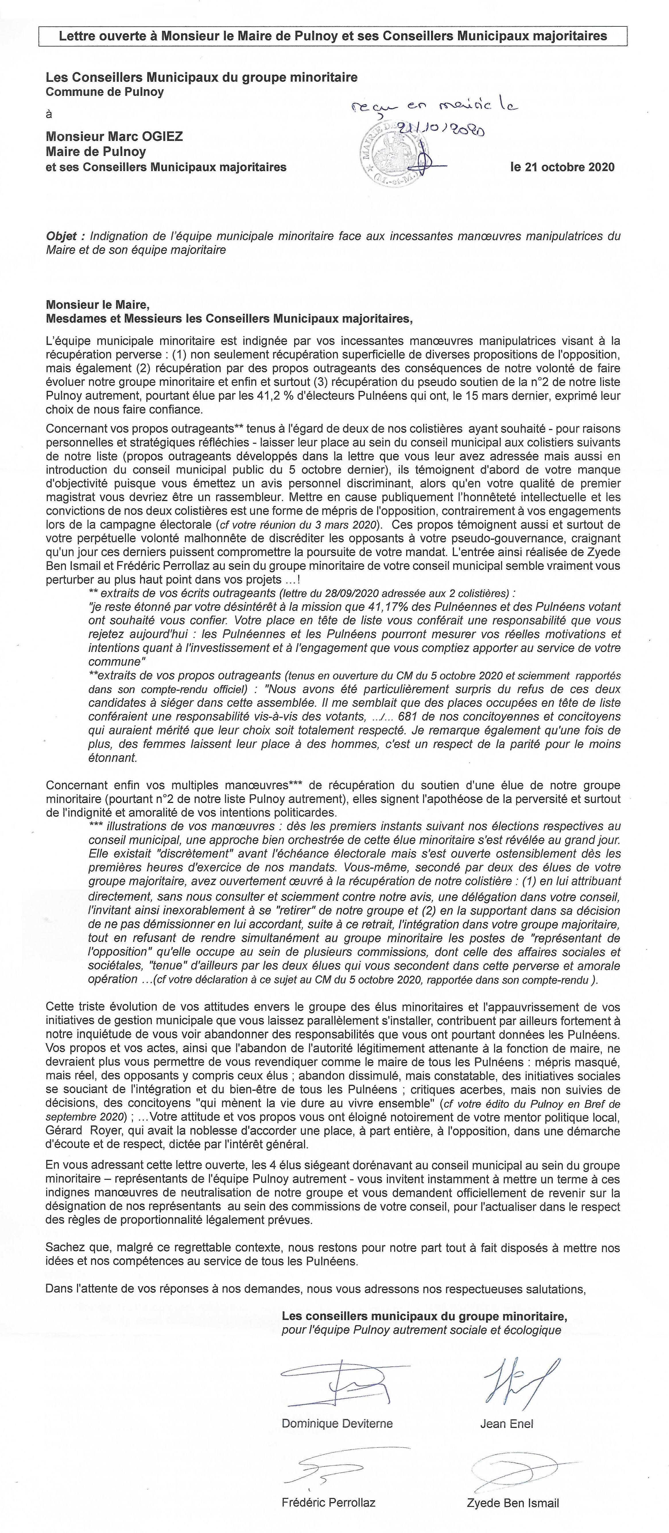 Lettre ouverte Opposition a Maire de Pulnoy_vjpeg
